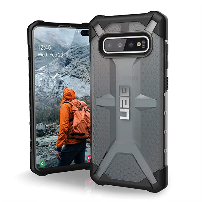 new concept be9d3 6e9ef URBAN ARMOR GEAR UAG Designed for Samsung Galaxy S10 Plus [6.4-inch Screen]  Plasma [Ash] Military Drop Tested Phone Case
