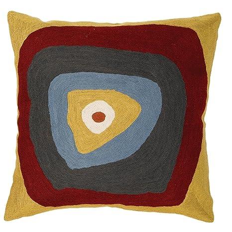 Zaida - Funda de cojín (Lana y algodón, 45 x 45 cm), diseño ...