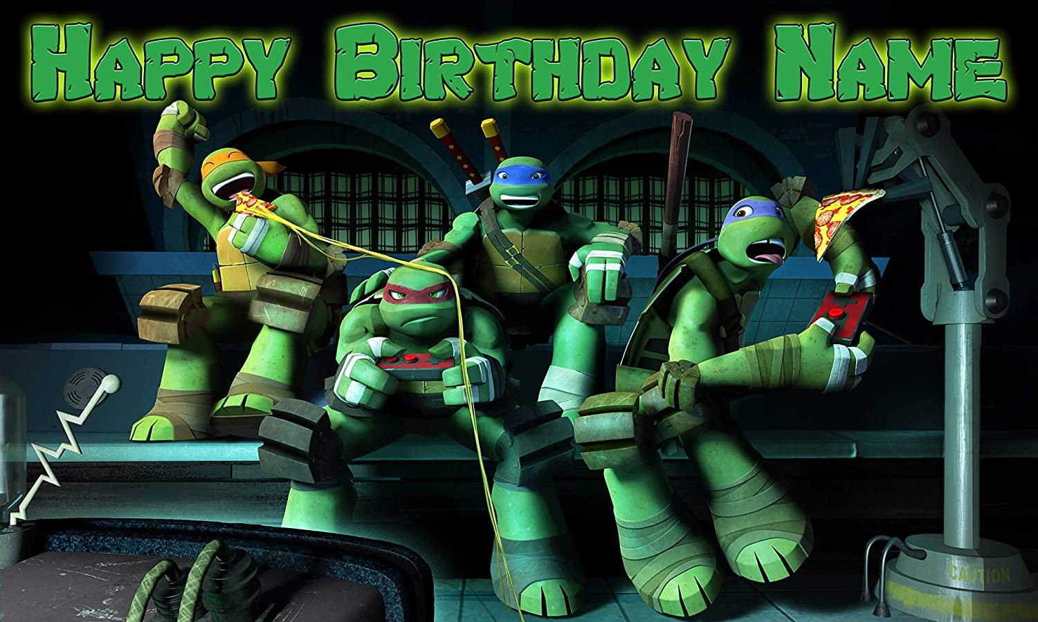 Amazon.com: Ninja Turtles Birthday Party Banner Personalized ...