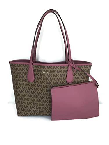 8315e61b0231 Amazon.com: MICHAEL Michael Kors Candy Large Reversible PVC Tote - Beige /  Tulip: Shoes