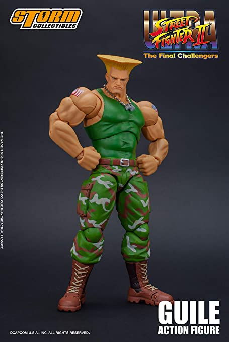 Amazon Com Storm Collectibles 1 12 Guile Street Fighter Toys