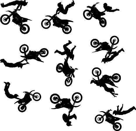 Amazon.com: calcomanía decorativo para pared de Motocross ...