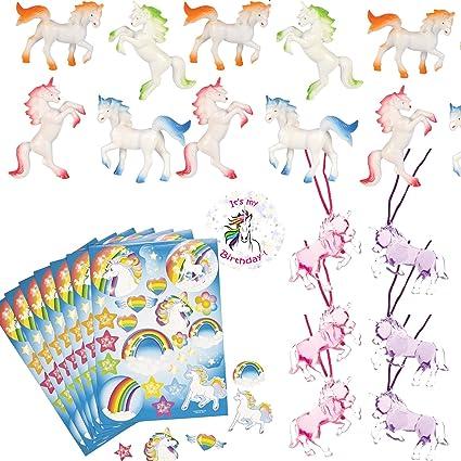 Amazon.com: Unicorn Party Favors para cifras de 12 – Unicorn ...