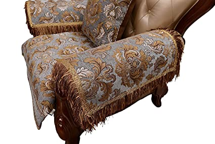 Remarkable Sideli Armrest Covers Set Of 2 Anti Slip Armrest Cover Luxury Sofa Arm Chair Pad With Tassel Non Slip For Leather Sofa And Fabric Sofa 2Pc 20X24 Sofa Alphanode Cool Chair Designs And Ideas Alphanodeonline