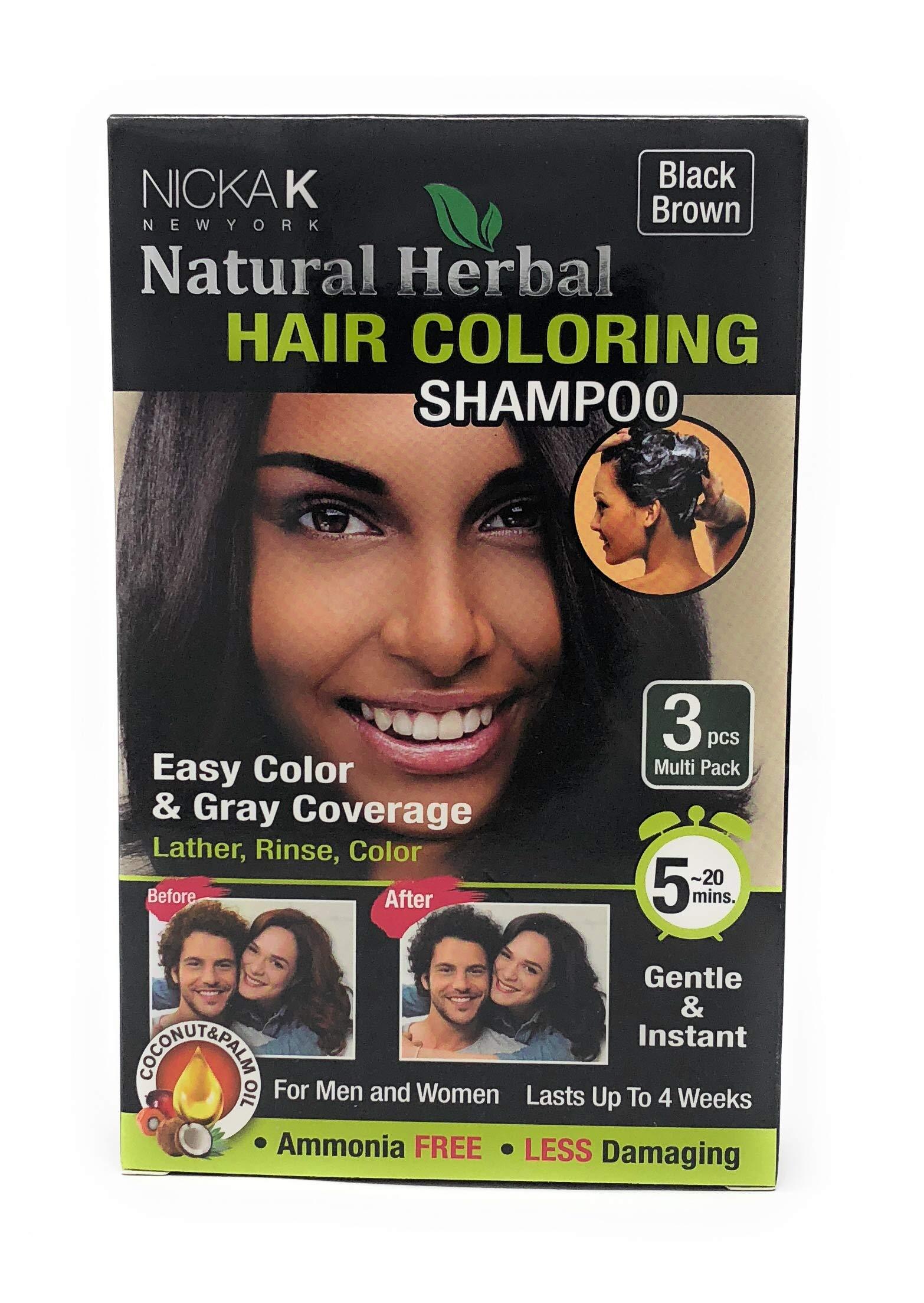 Amazon Hair Coloring Shampoo Black 3pcs Beauty