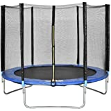 ENKLOV Trampoline, High Quality Kids Outdoor Trampolines Jump Bed With Safety Enclosure Exercise Fitness Equipment (8FT)
