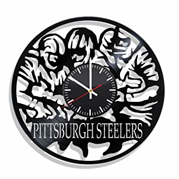 Vinyl Record Wall Clock Pittsburgh Steelers, For Pittsburgh Steelers Fans,  Pittsburgh Steelers Wall Poster