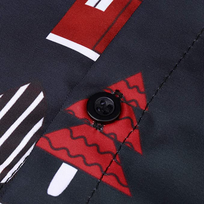 Camisas Navidad para Hombre, Camisas de Navidad Estampadas Divertidas para Hombre Cuello Abotonado Tops de Manga Larga Camisa de Disfraces Hawaiana de Navidad para La Fiesta del Festival Ropa Informal: Amazon.es: Ropa