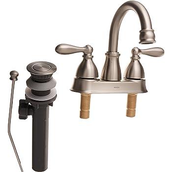 Moen Lavatory Faucet Low Lead Two Handle H Arc Spout