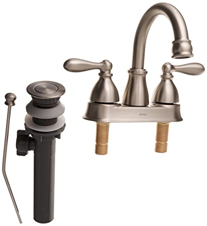 Moen WS84667SRN Caldwell Two-Handle Bathroom Faucet High Arc ...