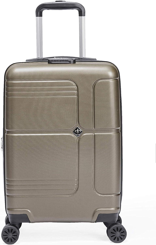 Bleu Gris LYS Valise Cabine Extensible Trolley 55x35x20 cm Plus 7 cm souflet Ultra l/éger 4 Roues doubl/ées ABS Rigide Bagage /à Main pour Ryanair Lufthansa etc Easyjet