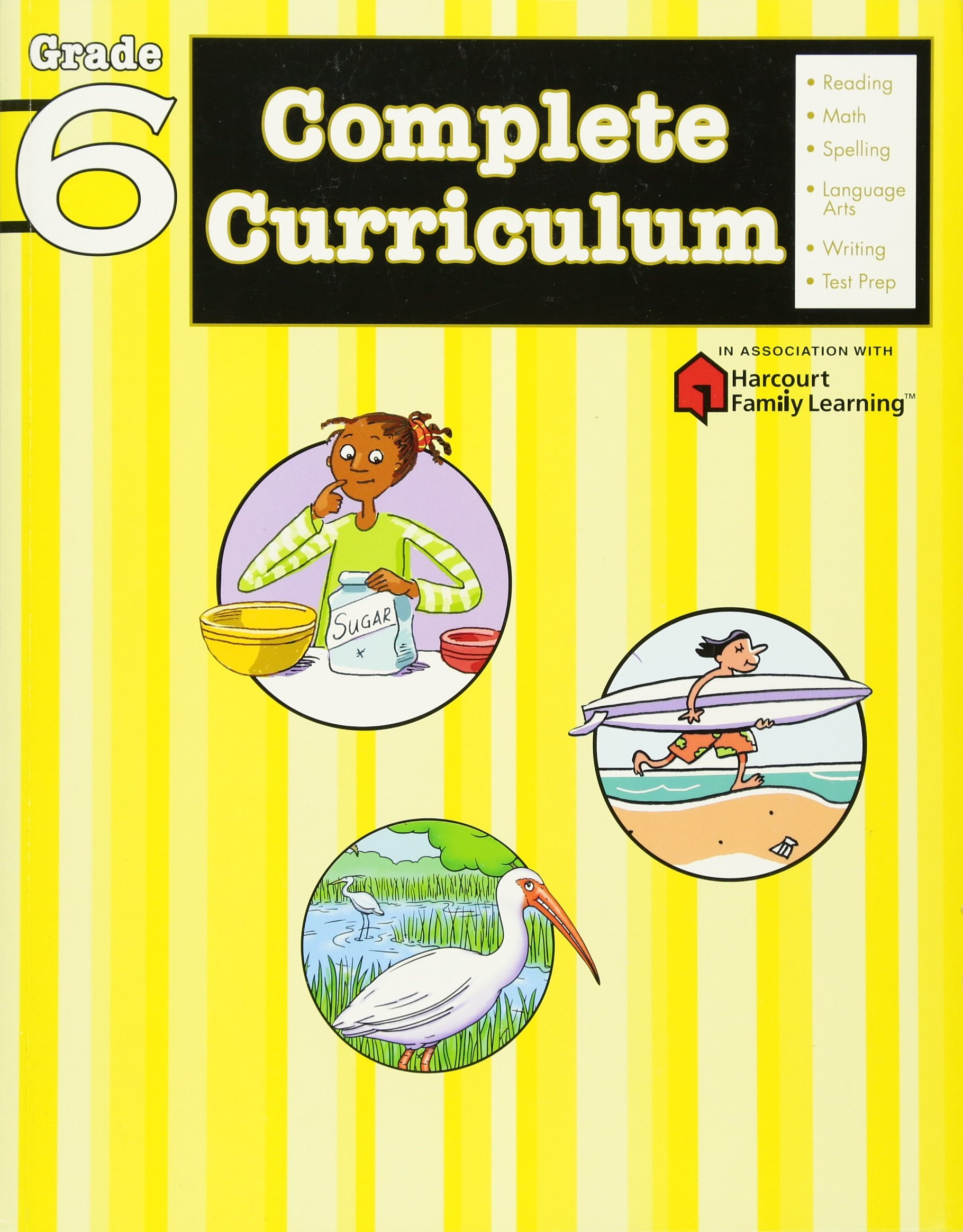 Complete Curriculum Grade 6 (Flash Kids Harcourt Family Learning): Flash  Kids Harcourt Family Learning: 9781411498792: Amazon.com: Books