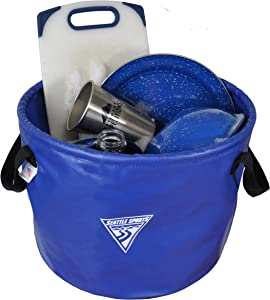 Seattle Sports Outfitter Class Collapsible Jumbo Camp Sink Wash Basin Bucket (Blue)