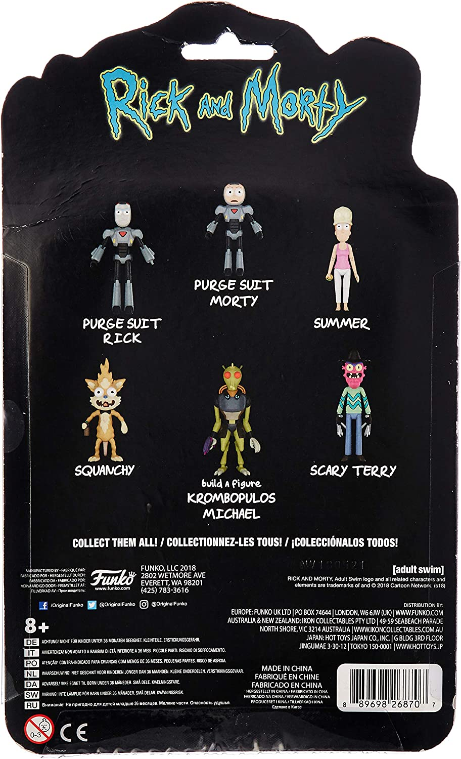 Funko 26870 Action Figure Morty-Morty Purge Suit Collectible Multicolor 26869 Accessory Toys /& Games
