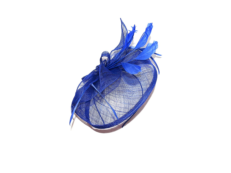 e8704262cf5 BEAUTIFUL LARGE ROYAL BLUE FEATHER HATINATOR - FASCINATOR WEDDINGS LADIES  DAY  Amazon.co.uk  Beauty