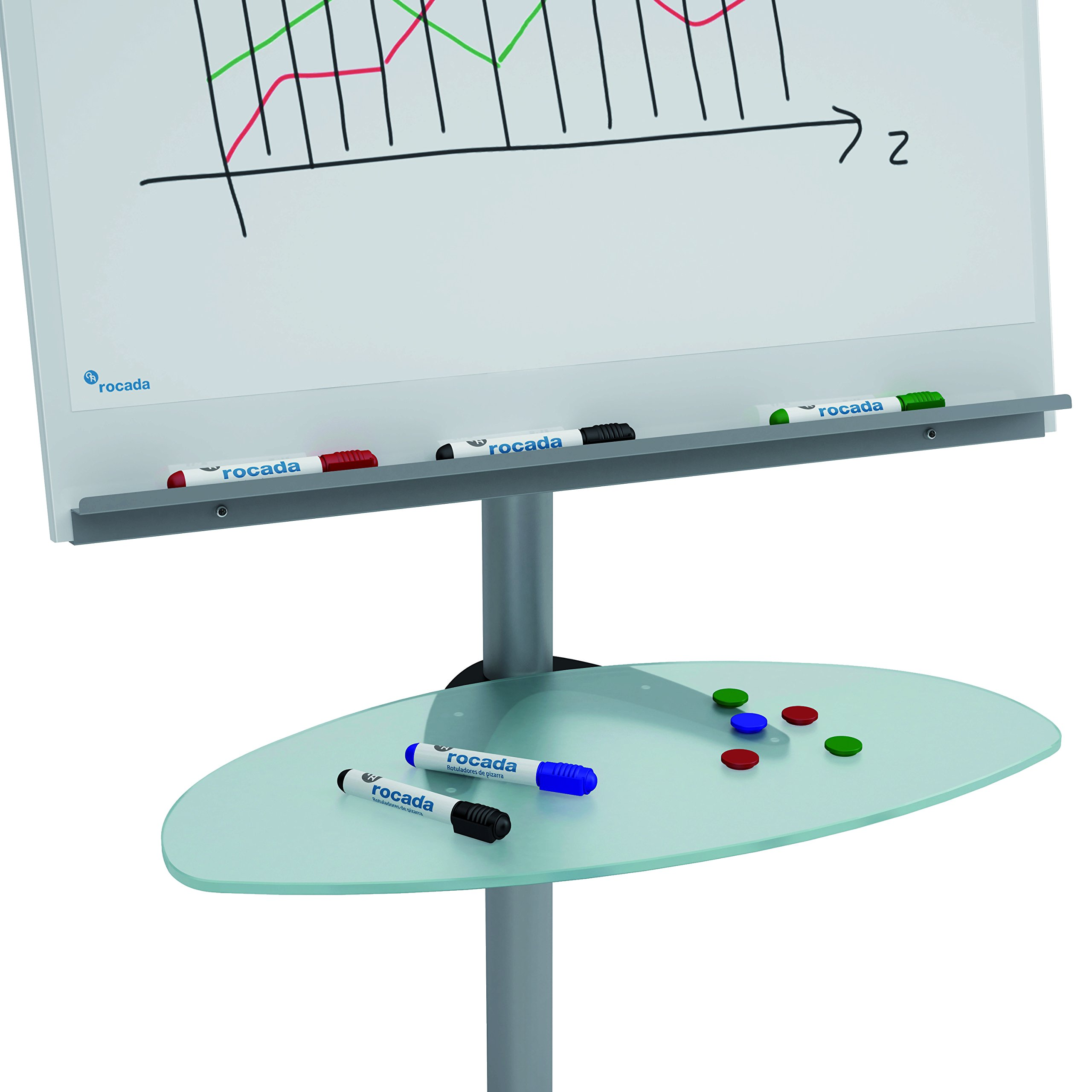 ROCADA Glass Tray for Flipchart/Table (RD-619)