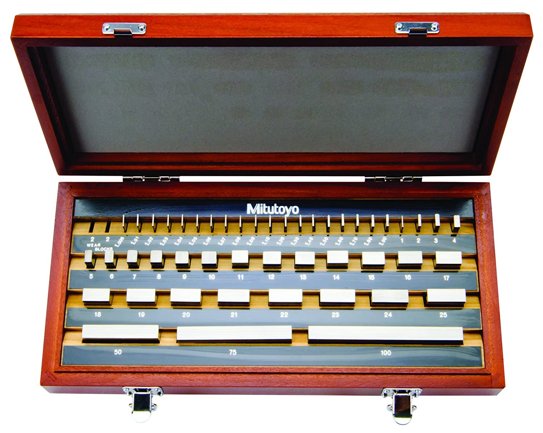 87pcs 1.00-50mm 1 Grade Micrometer Inspection Block Gauge Steel Blocks Set