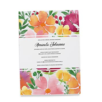 Amazon Com Bride To Be Party Invitation Card By