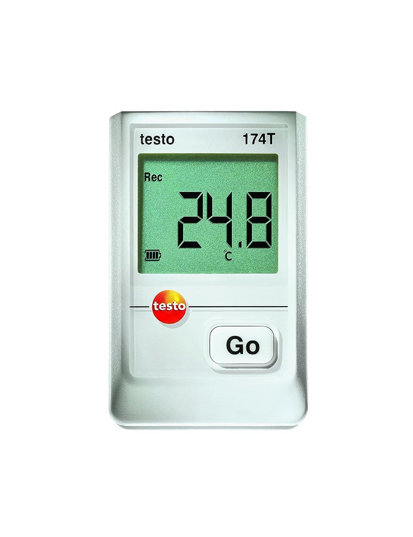 Testo 0572 1560 Mini Data Logger de Temperatura, 1 Canal, Incluye Soporte de Pared y Calibración, Blanco
