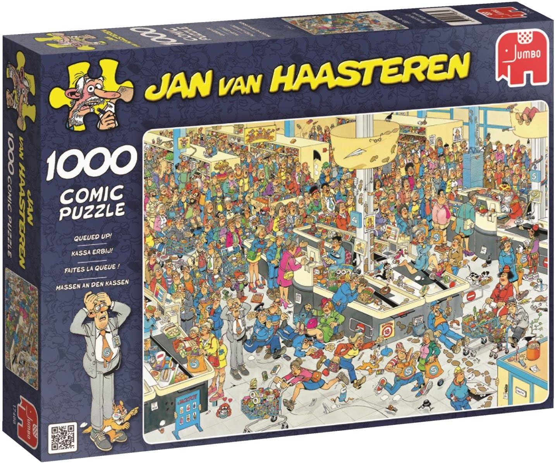 Jumbo Jan Van Haasteren Queued Up Jigsaw Puzzle (1000 Piece)