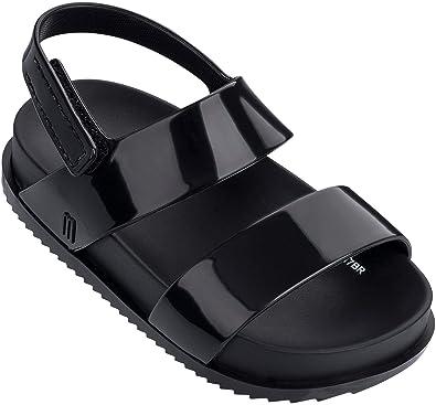 b046851309fc Mini Melissa Girls  Mini Cosmic Sandal Slipper Black 5 Medium US Toddler