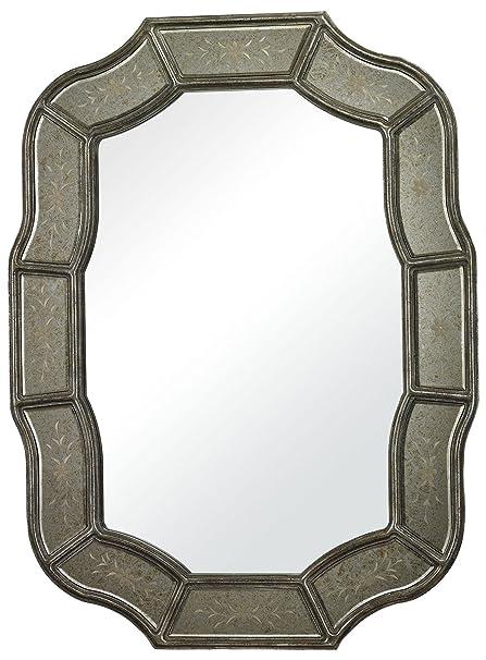 Amazon.com: Sterling 114-17 Merriwood Glass/MDF Mirror in Antique ...
