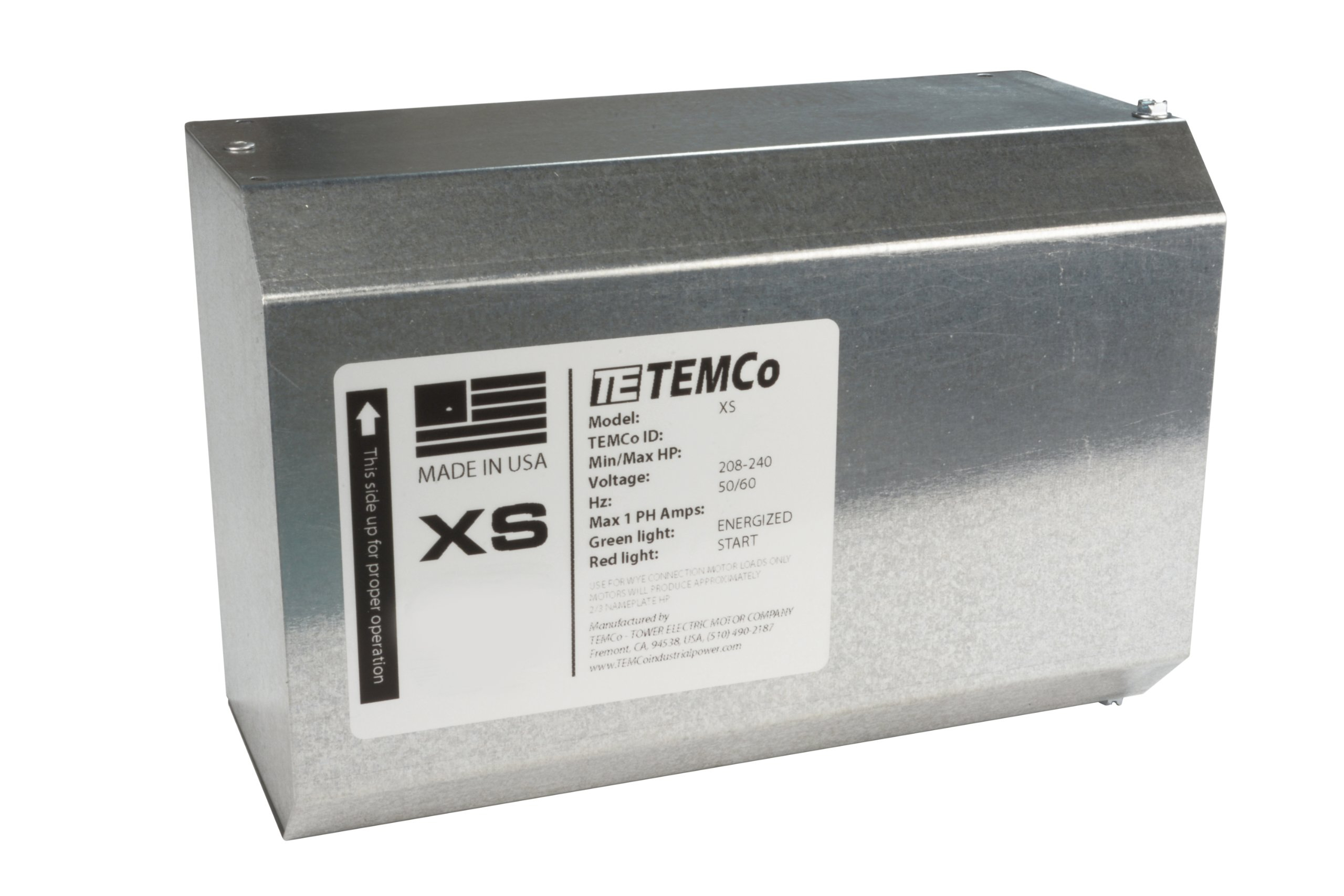 TEMCo XS12 Static Phase Converter PC0014 - HD 8 - 12 HP Static Phase Converter Mill Drill Saw MADE IN USA Single to three 5 Year Warranty