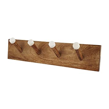 Amazon.com: Marble and Wood Coat Hook Rack – Handcrafted ...