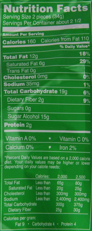 Dark Chocolate Nutrition Information