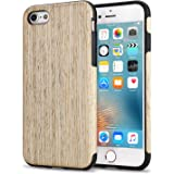 TENDLIN Coque iPhone 6s Bois et Souple TPU Silicone Hybrid Slim Etui pour iPhone 6 et iPhone 6s (Nordic Noyer)