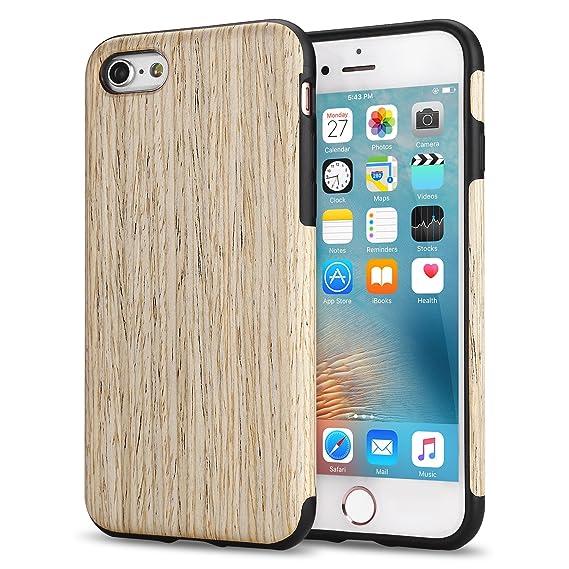 TENDLIN Funda iPhone 6s Grano de Madera Silicona TPU Híbrido Suave Carcasa para iPhone 6 6s, Nordic Madera de Nogal
