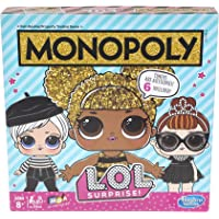 Monopoly: L.O.L. Surprise! Edition Board Game for Kids Ages 8 and Up