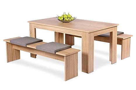 AVANTI TRENDSTORE Set con tavolo e due panche per la sala da pranzo ...