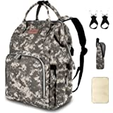 Diaper Bag Backpack with USB Charging Port Stroller Straps Insulated Pocket and Changing Pad, Tactical Advantage Travel…
