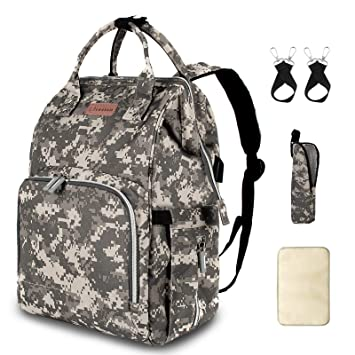 Amazon Com Diaper Bag Backpack With Usb Charging Port Stroller Straps Insulated Pocket And Changing Pad Tactical Advantage Travel Baby Bag Nappy Backpack For Dad Boy Mom Girl Toddler Camouflage By Qwreoia Baby
