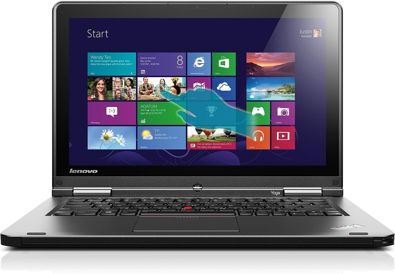 Lenovo ThinkPad Yoga 20CD00BAUS 12.5-Inch Convertible 2 in 1 Touchscreen Ultrabook (1.6 GHz Intel Core i5-4200U Processor, 4GB DDR3, 500GB HDD, 16GB SSD, Windows 8.1) Grey
