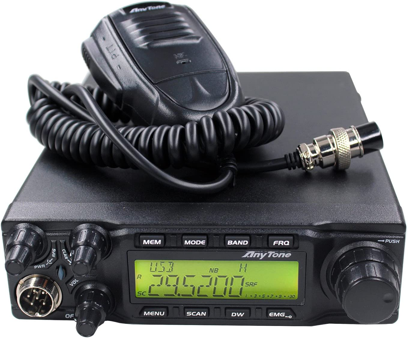 with SSB AnyTone AT-6666 10 Meter Radio can convert into 11 meter CB Radio 40 Channel for truck PEP PEP //FM// AM //PA mode,High Power Output 15W AM,45W FM,60W SSB