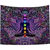 Seven Chakra Tapestry - Bohemian Mandala Yoga Meditation Wall Hanging Boho Studio Room Decoration Spiritual Gift Art…