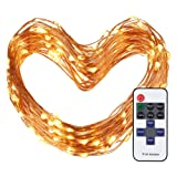 Amazon Price History for:Cymas Outdoor String Lights, 100 LEDs Decorative Lights 33ft Copper Wire Warm White String Light Dimmable with Remote Control for Indoor Outdoor, Bedroom, Patio, Wedding, Party Decoration