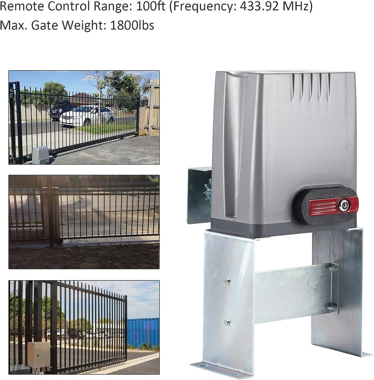 co-z abridor de puerta corredera con 2 mandos a distancia inalámbrico abridor de puerta hasta 1800lbs puerta corredera kit de seguridad: Amazon.es: Bricolaje y herramientas