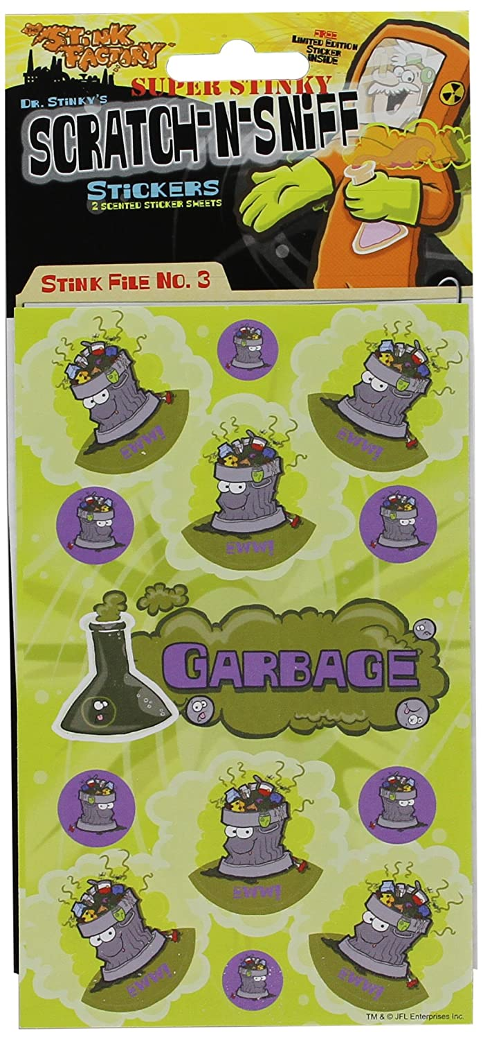 Garbage Scratch-N-Sniff Stickers