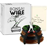 Leaves and Soul Tree Training Wire Kit - 5 Rolls (160ft) Aluminum Alloy Bonsai Plant Training Wire | Wire Cutter…