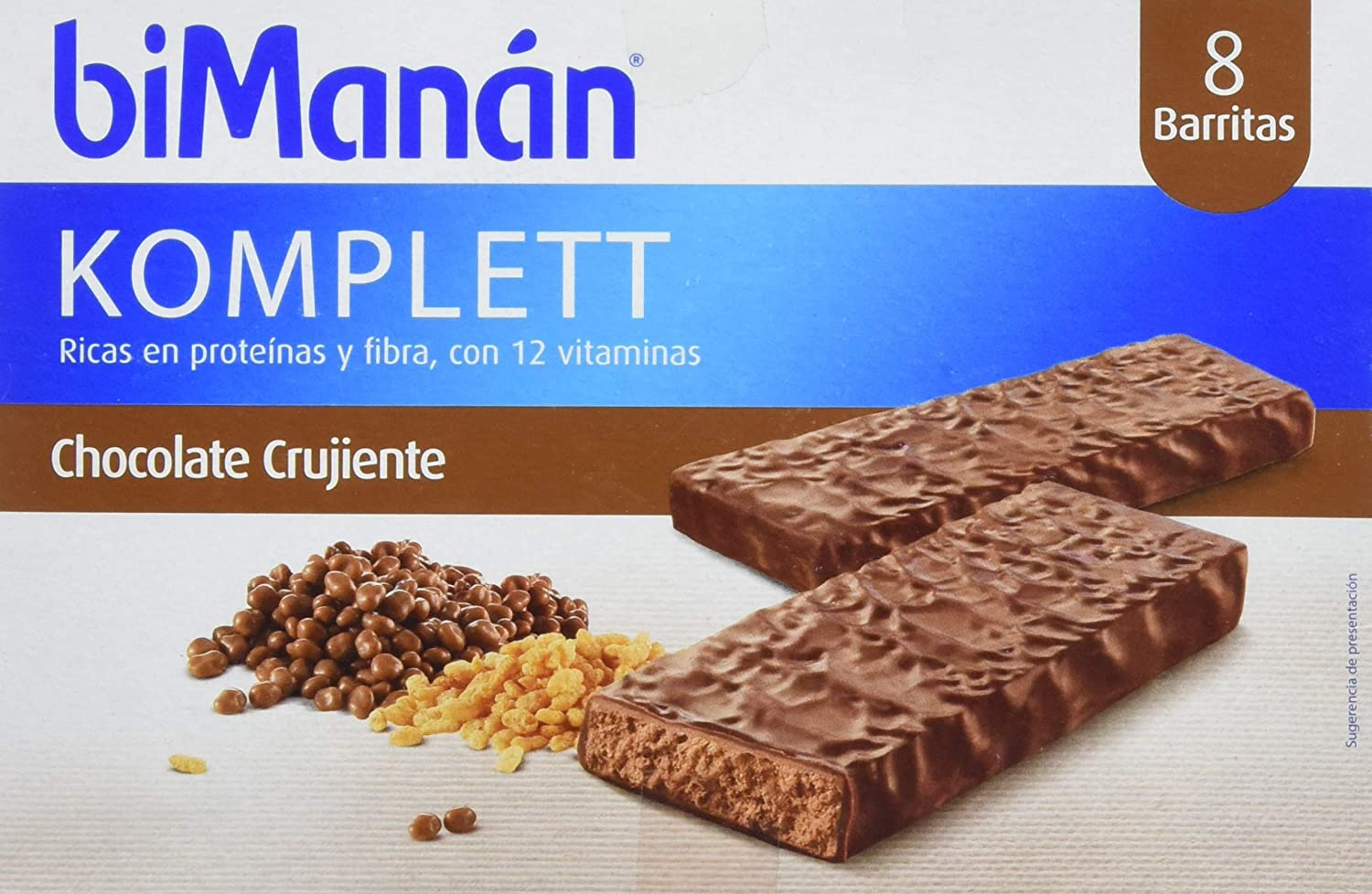 Binamán Sustitutive Barritas Crujientes Chocolate Komplett - 8 ...