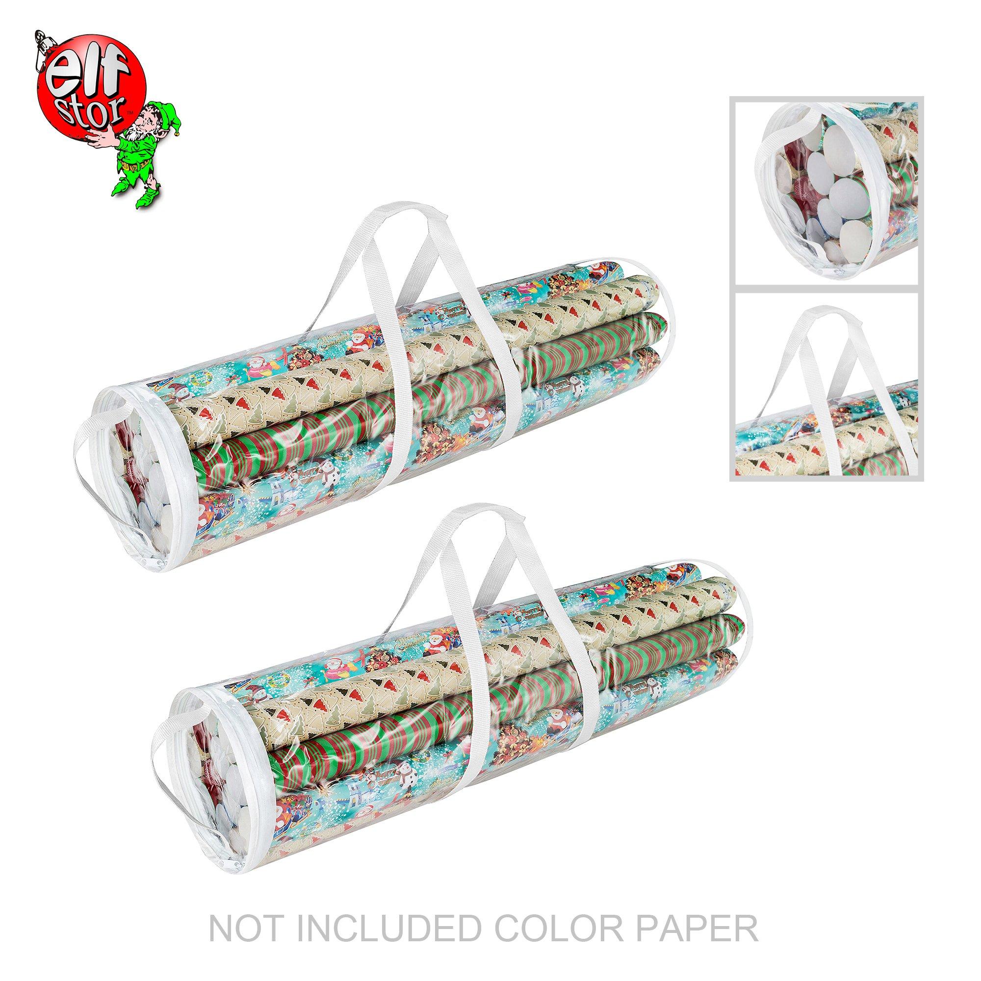 Elf Stor 83-DT5053 1075 Paper Gift Wrap Storage Bag for 31 Inch Rolls   2 Pack