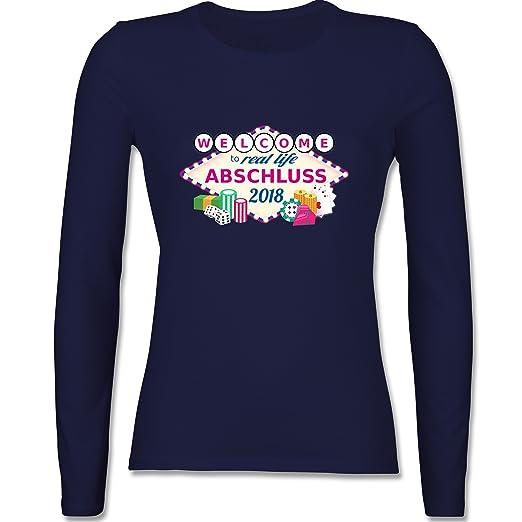 Shoppen Sie Abi & Abschluss - Abschluss 2018 - Welcome to Real Life - Damen  Langarmshirt auf Amazon.de:T-Shirts