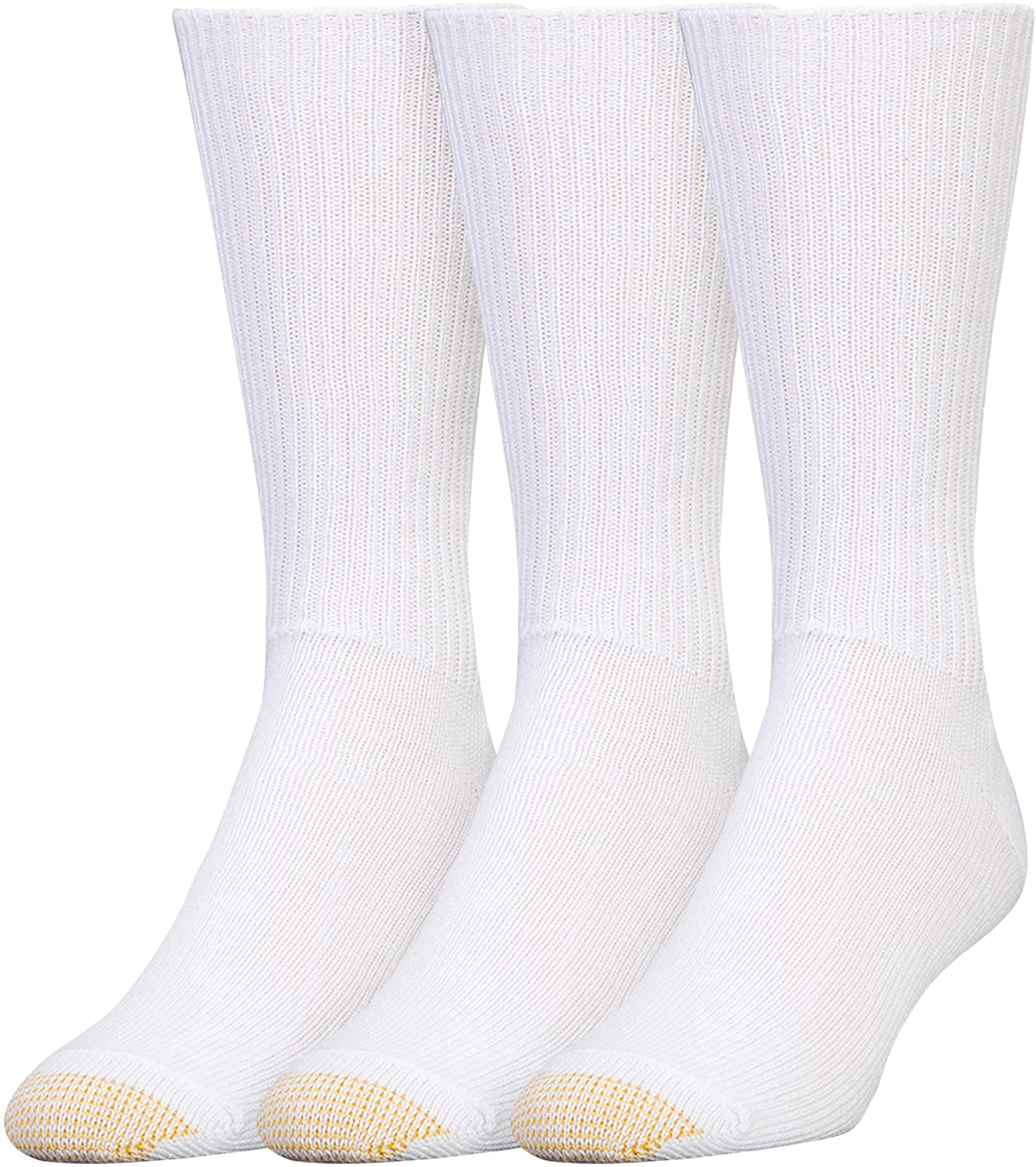 3-Pack Gold Toe Mens Fluffies Casual Sock