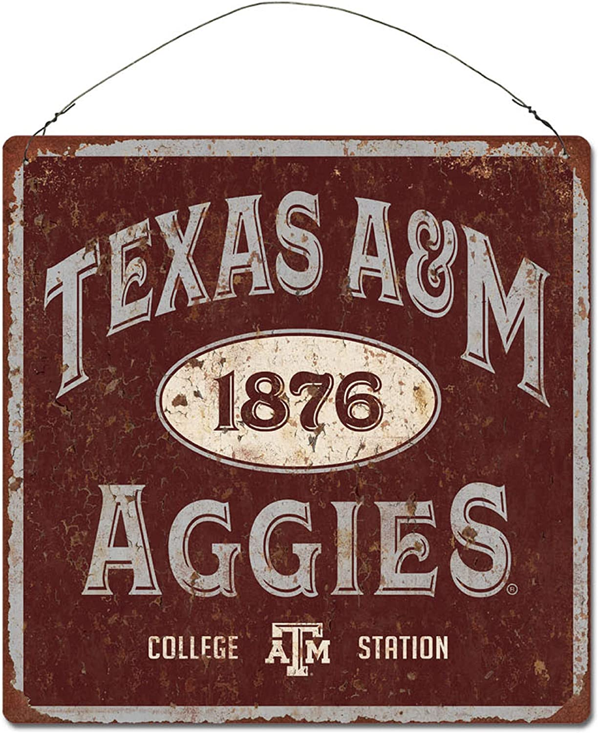 Stock One Size NCAA Legacy Texas A/&M Aggies Large Tin Sign 12x12