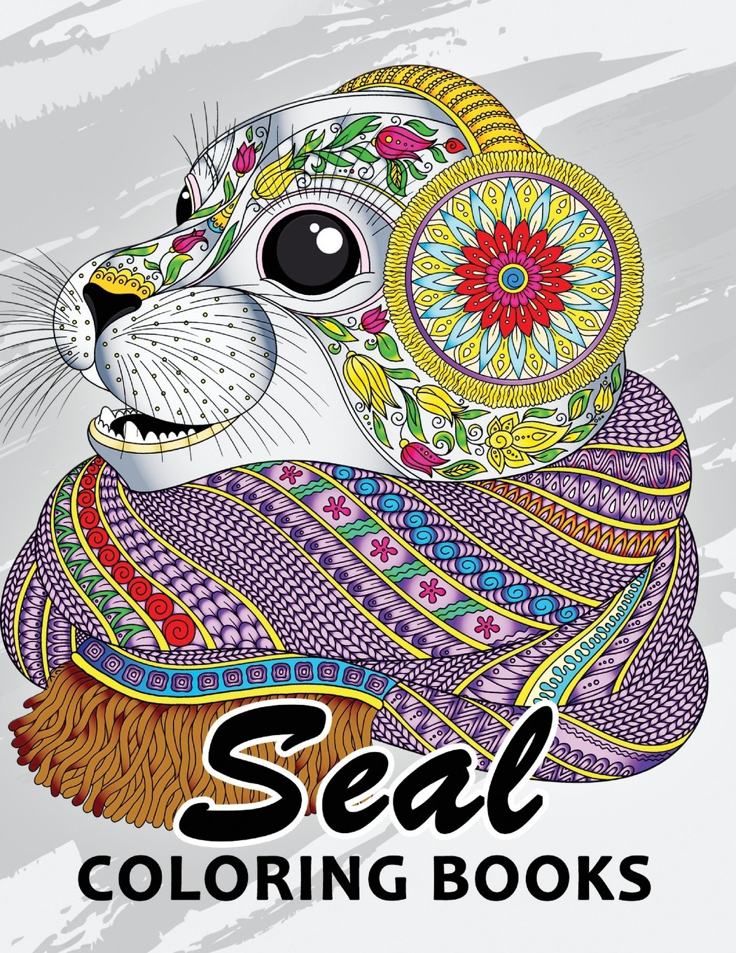 Seal coloring book unique animal coloring book easy fun beautiful coloring pages for adults and grown up paperback april 20 2018