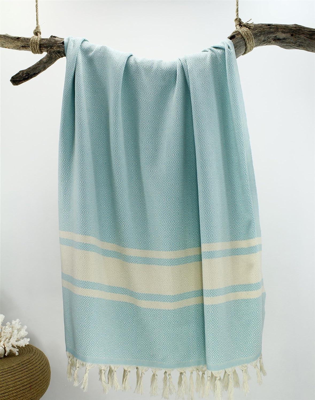Oyo Concept 100 x 180 cm Turco baño Toallas de mano tradicional Pest de diseño para cuarto de baño, Playa, sauna 100% algodón natural, ultraweich, ...