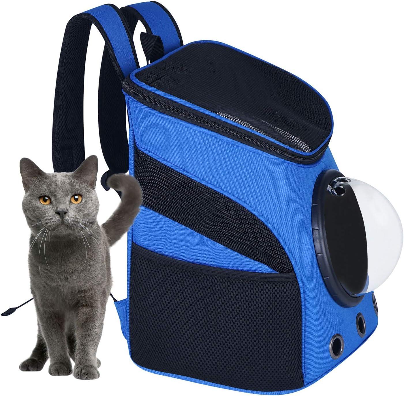 per viaggi brevi e passeggiate Zaino portatile per cani e cuccioli di cane con capsula spaziale trasparente leggero impermeabile traspirante